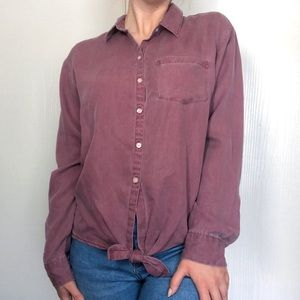 Old Navy Front Tie Button Up Shirt